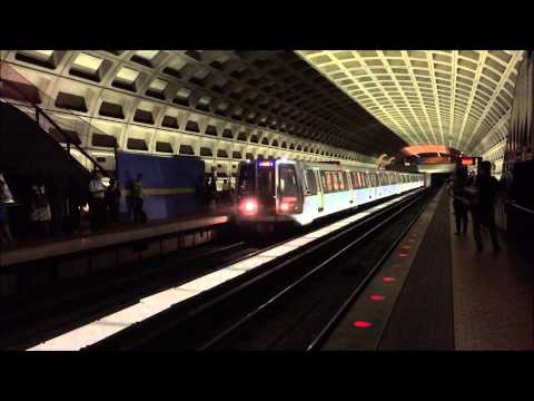 Washington Metrorail HD 60 FPS: Orange, Silver, & Blue Line Trains @ Farragut West Station 8/19/15