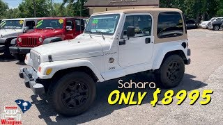 Lets Take a Look at this 2002 Jeep Wrangler Sahara | 2Door w/Hard Top - For Sale $8995 | CCVTV