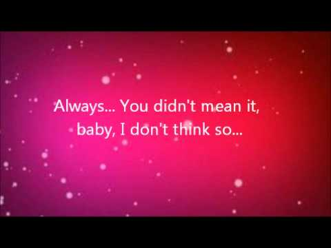 Taylor Swift - Forever And Always Lyrics Video HQ
