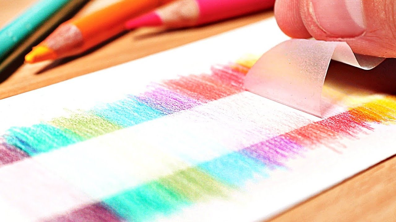 12 Genius Drawing Hacks For Colored Pencils Youtube