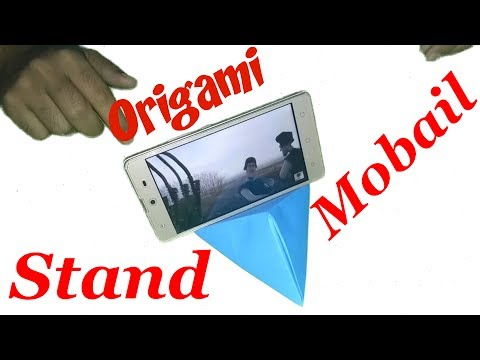 Origami - How To Make An Origami Phone Stand/Holder | DIY Paper Mobile Holder | DIY Paper Crafts
