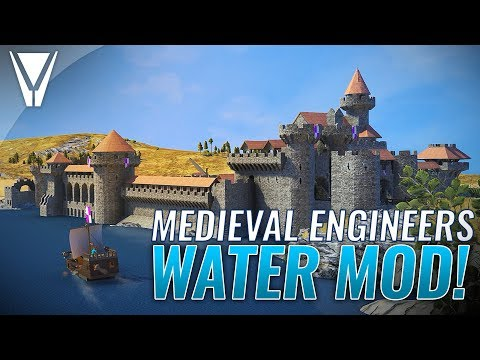 Wait, a WATER MOD!? [ Medieval Engineers ]