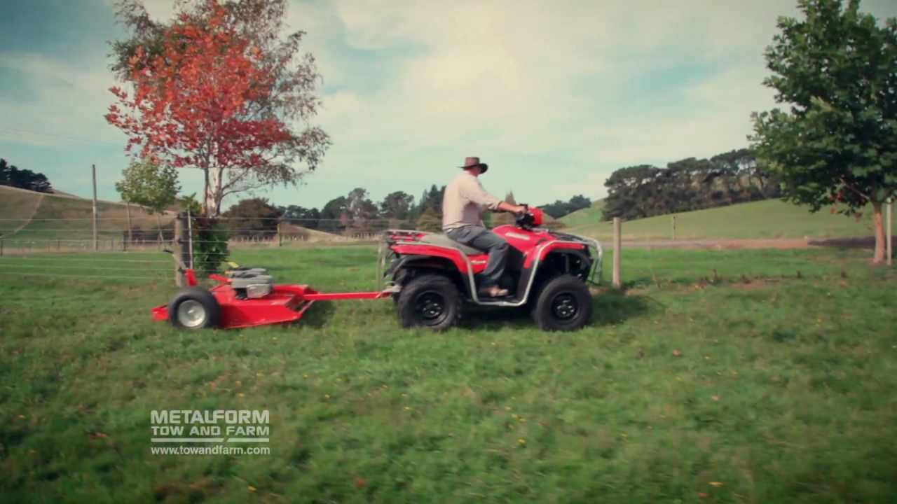 Tow And Mow Atv Tow Behind Slasher Mower Amp Topper Youtube