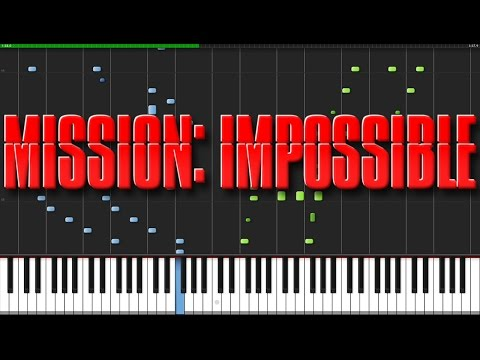Mission Impossible Theme [Piano Tutorial] (Synthesia) // Akmigone