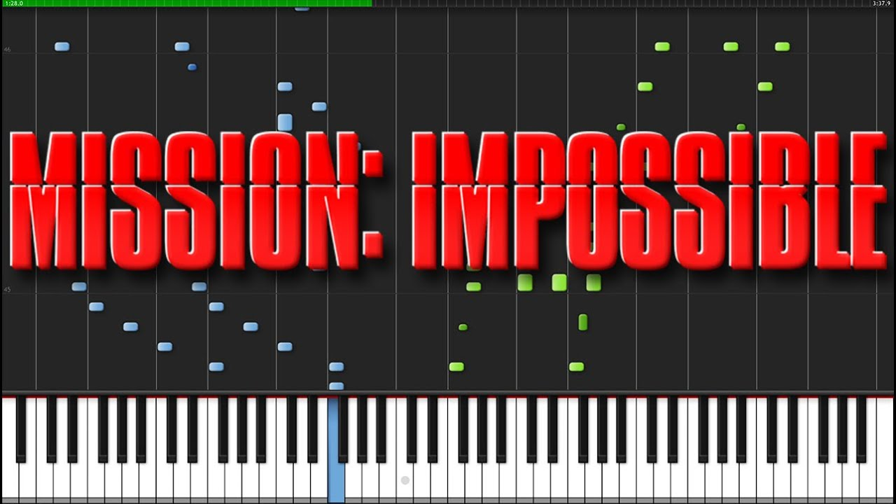 Mission Impossible Theme [Piano Tutorial] (Synthesia