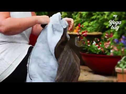 Yoga Mat Bag with zip and lining (enclosed seams)