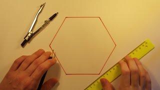 Геометрия - Построение шестиугольника(Построение правильного шестиугольника с помощью циркуля и линейки. Предлагайте идеи для новых видео в..., 2015-07-02T17:38:26.000Z)