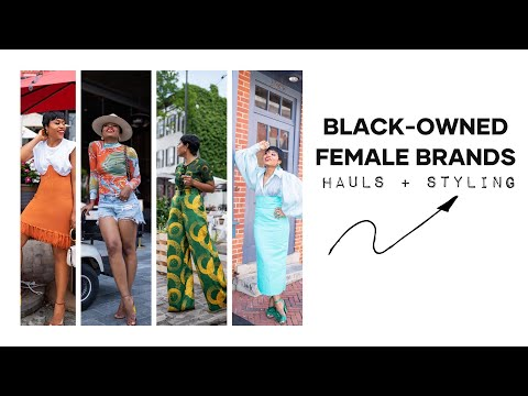 BLACK OWNED FEMALE BRANDS TRY-ON HAUL + STYLING from YouTube · Duration:  12 minutes 32 seconds