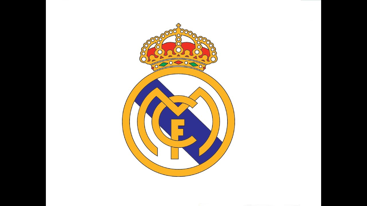 How to Draw a FC Real Madrid logo / Как нарисовать ...