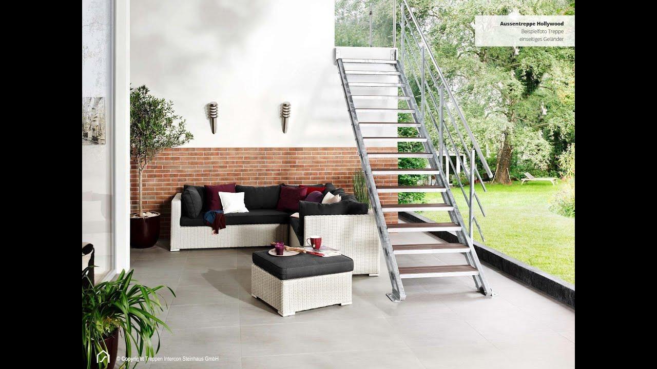 Wpc Stufen montage außentreppe wpc stufen einseitiges geländer