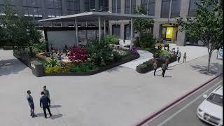 HULU courtyard
