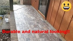 Front porch tiling with stone look tiles