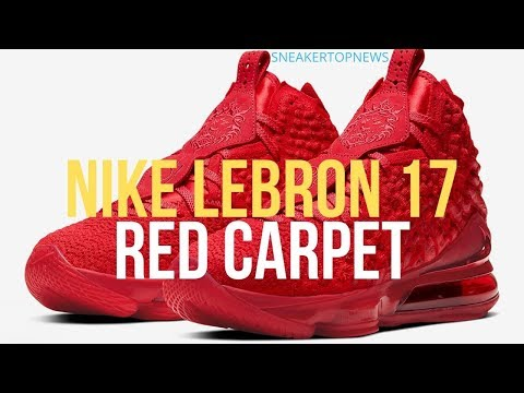 """The Nike LeBron 17 """"Red Carpet"""" Goes Full Red"""