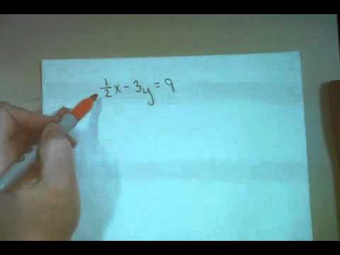 Drawing Lines Using Y Mx C : Transform ax by c into y mx b fractions youtube