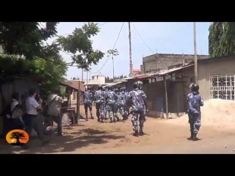 Tirs nourris de gaz lacrymogène des gendarmes en réplique aux jets de pierres à Lomé [23/05/2013]