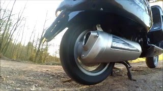 Piaggio Vespa GT L 125 Leovince GranTurismo Sport Exhaust-Sound (with DB-Killer)