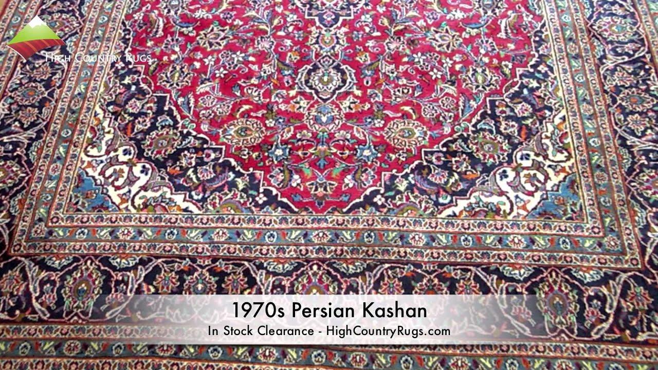 Custom Area Rug 1970s Persian Kashan High Country Rugs You