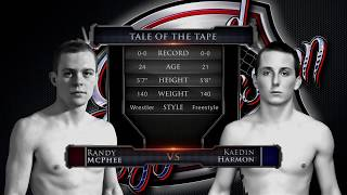 """Caged Aggression Challengers 7 """"Road to the Big Show"""" Fight 1. Randy McPhee vs Kaedin Harmon"""