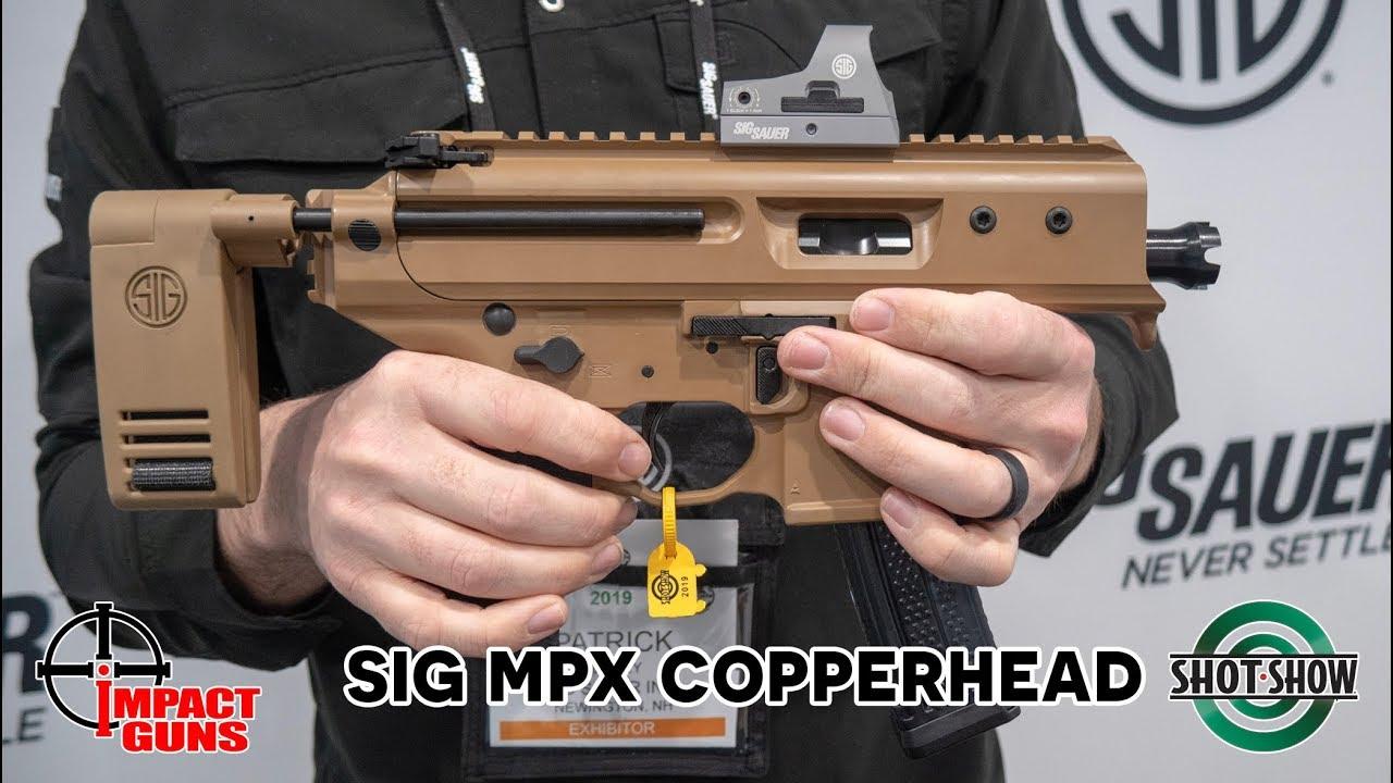 Sig Sauer MPX 9mm Copperhead Pistol, 3 5