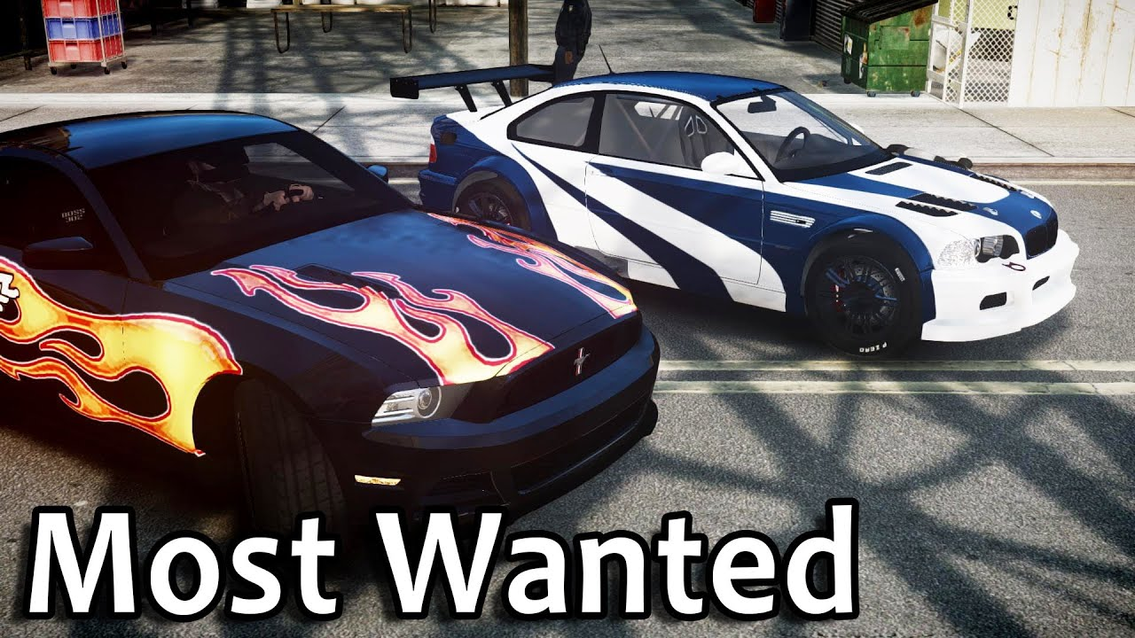 Gta iv most wanted bmw m3 gtr s mustang
