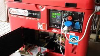 Seconda Prova Generatore GTPD 6500 GEOTECH dopo riparazione ATS da AGRIEURO