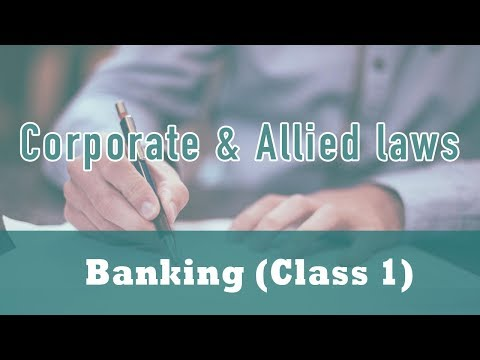 Banking | The Banking Regulations Act 1949 | Section 5 | Section 7 | Section 9 | Class 1
