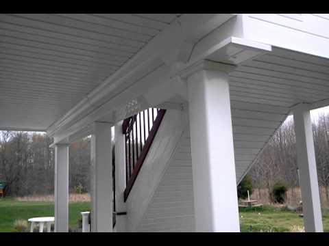Dry space below under-mount deck ceiling system by DecksNJ.com