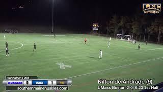UMass Boston Men's Soccer vs. University of Southern Maine (10/17/19) Highlights
