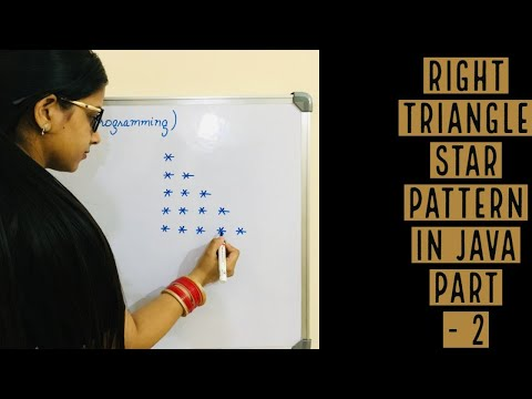 Star Pattern Right Triangle program in Java | Easy trick to solve all  Pattern | Hindi_Urdu | Part 2