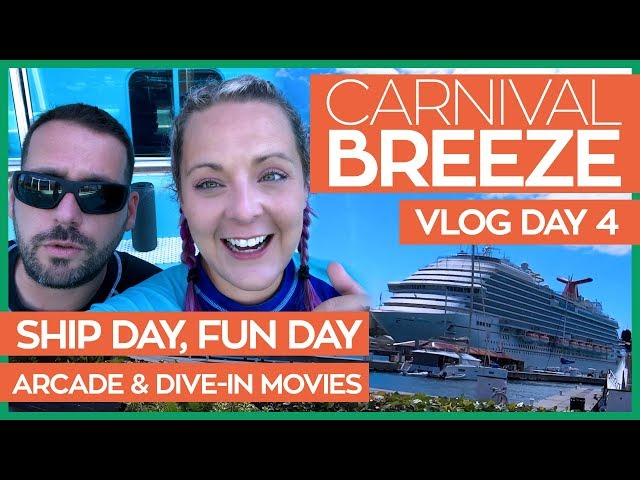 St. Thomas, Dive In Movies and Art at Your Table | Carnival Breeze Cruise Vlog Day 04