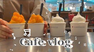 Eng) Cafe vlog #19: 요거프레소 카페알바…