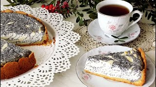 Творожный Пирог с Маком!Очень красивый и вкусный!Cottage cheese Cake with poppy Seeds