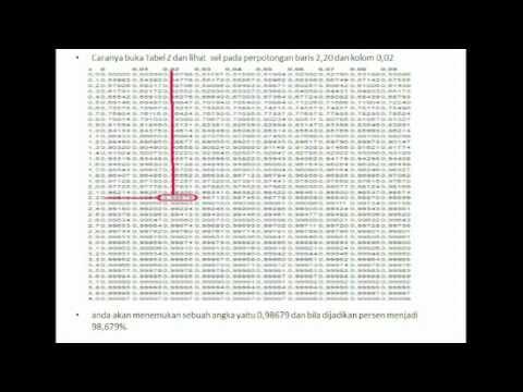 Cara Membaca Tabel Distribusi Z Youtube