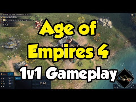 First Age of Empires 4 Game! 1v1 as English