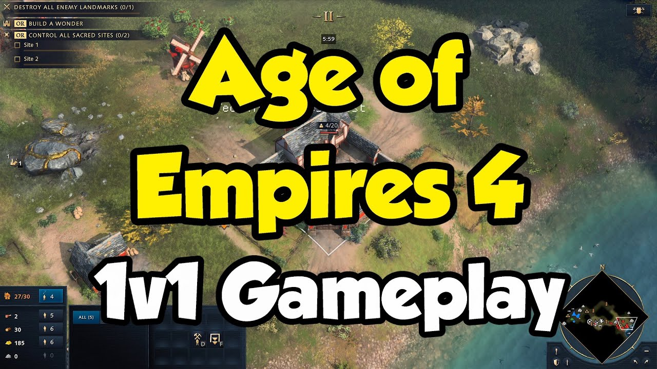 Download First Age of Empires 4 Game! 1v1 as English