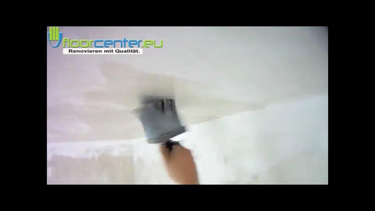 Vorkleistern grundieren tapezierfertigen untergrund - Youtube tapezieren ...