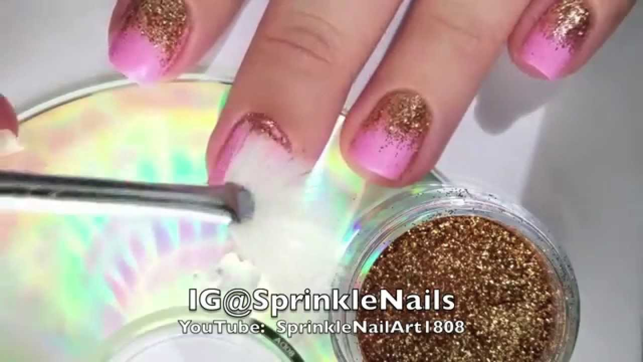 Glitter gradient | How to apply loose glitter - YouTube