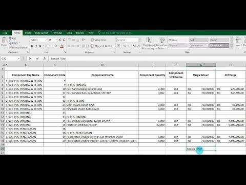 ARCHICAD Cost Estimate | Auto Generate BOQ/RAB Database Calculation (NO PLUGIN) + Editing To EXCEL
