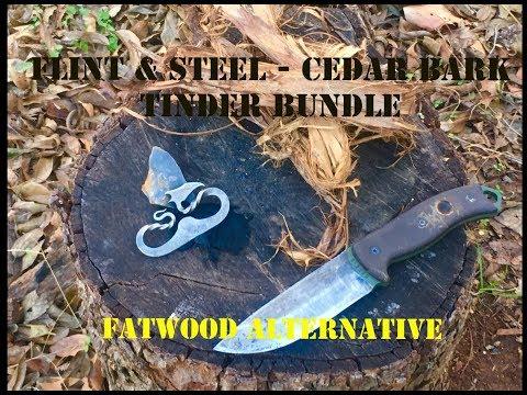 Flint & Steel - Cedar Bark Tinder Bundle.(Fatwood Alternative)