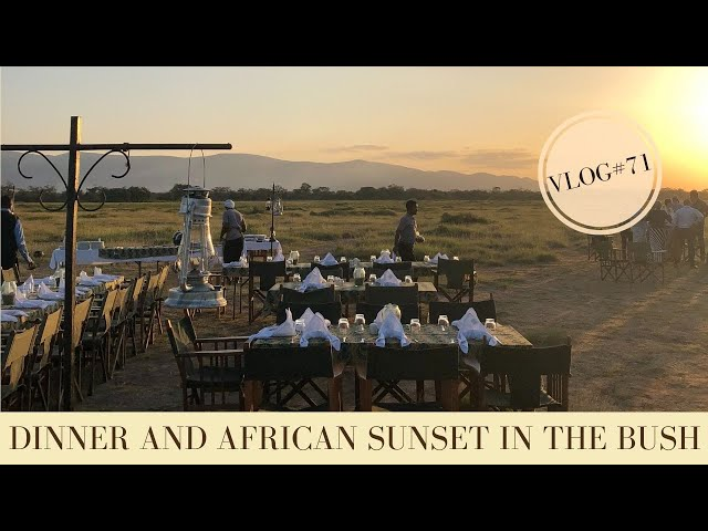 Dinner 'in the bush' with amazing Tanzania sunset | Makasa Tanzania Safari | VLOG #71
