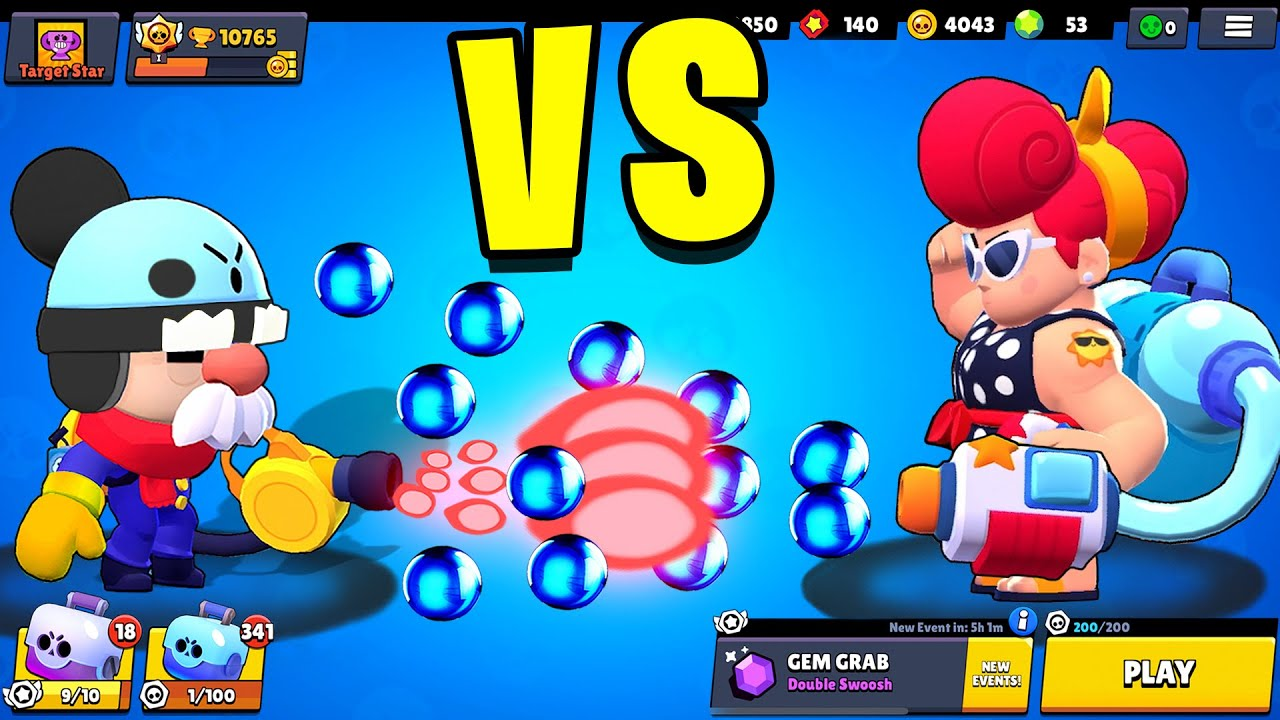 GALE vs PAM | 1 vs 1 | 29 Tests | Best Brawler in Brawl Stars?