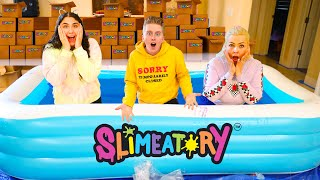 LAST TO LEAVE THE GIANT POOL OF SLIMEATORY GLUE WINS!