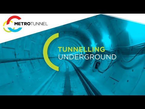 Tunnelling underground - Melbourne Metro Rail Project