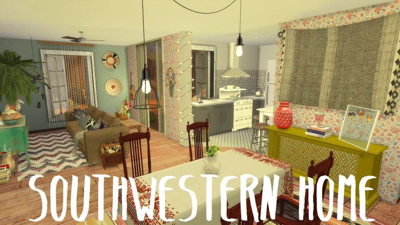 The Sims 4: Speed Build - Southwestern Home / WITH CC ...