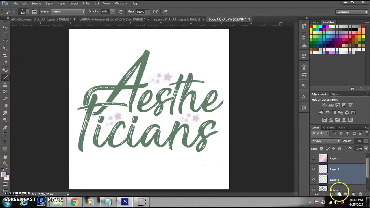 WATCH ME EDIT | HOW TO MAKE AESTHETIC PASTEL LOGO (PHOTOSHOP)