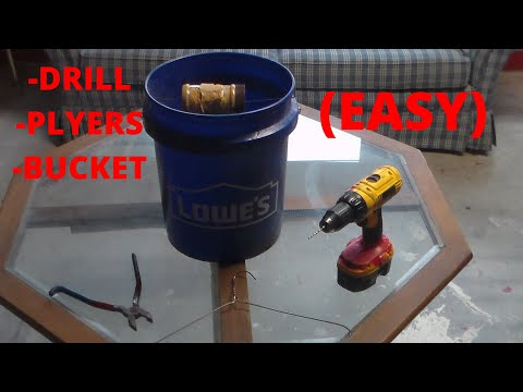 5 Gallon Bucket Mouse Trap How To Easy Youtube
