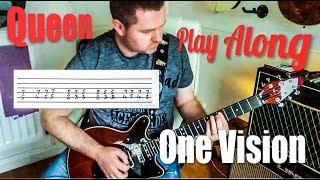 Queen - One Vision - Guitar Play Along (Guitar Tab)