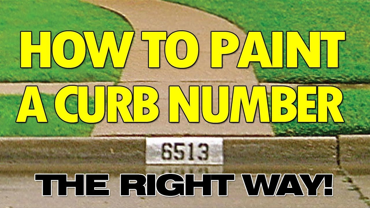 how to paint a black and white curb number the right way youtube. Black Bedroom Furniture Sets. Home Design Ideas
