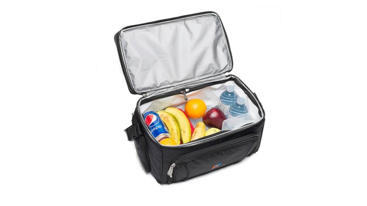 Lunch Box Cooler Bag With Padded Shoulder Strap Double Zipper And Many Storage Compartments You