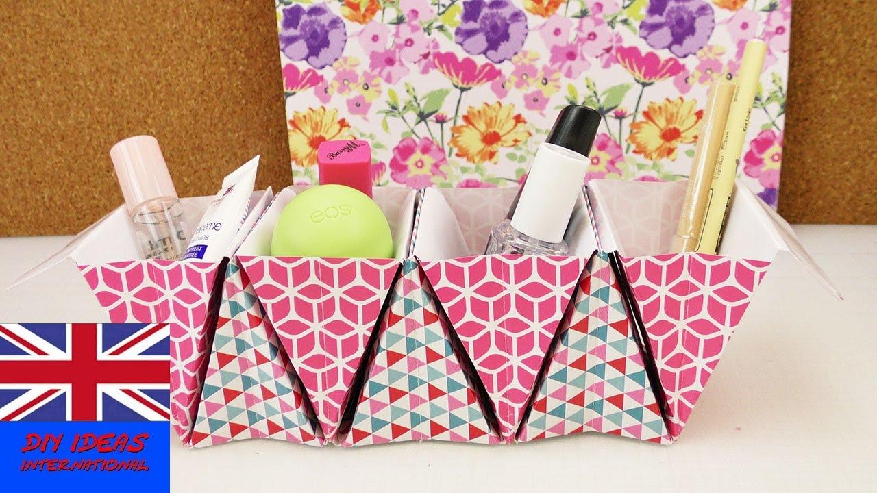 origami basket organizer diy improve your desk store. Black Bedroom Furniture Sets. Home Design Ideas